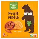 BEAR Fruit Rolls Mangue, Snack au fruits, 5x2 rouleaux