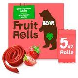 BEAR Fruit Rolls Aardbei, Fruit Snack, 5x2 rolletjes
