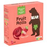 BEAR Fruit Rolls Fraise, Snack au fruits, 5x2 rouleaux
