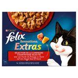FELIX Sensations Nourriture Chat Extras Sélection Campagne 12 x 100 g