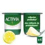 Activia Yaourt Saveur Citron avec Probiotiques 4 x 125 g