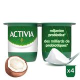 Activia Yaourt Saveur Noix de Coco avec Probiotiques 4 x 125 g