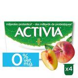 Activia Yoghurt Perzik 0% met Probiotica 4 x 125 g