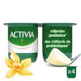 Activia Yaourt Saveur Vanille avec Probiotique 4 x 125 g