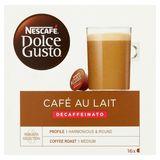 Nescafé Dolce Gusto Café au Lait Decaffeinato 16 Capsules 160 g
