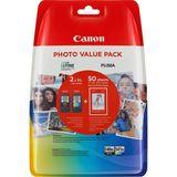 Canon - Inktcartridge PG-540XL/CL541XL - BL/C/M/Y + 50 vellen