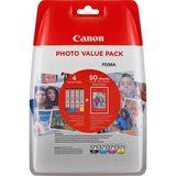 Canon - Inktcartridge CLI-571 + Papier - BL/C/M/Y