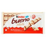 Kinder Bueno White Lait et Noisettes 10 Pièces 195 g