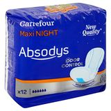 Carrefour Absodys Maxi Night 12 Pièces