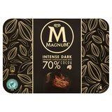 Magnum Ola Multipack Glace Intense Dark Chocolate 4 x 100 ml