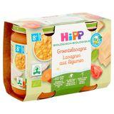 HiPP Biologique Lasagnes aux Légumes 8+ Mois 2 x 190 g