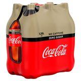 Coca-Cola Zero Sugar Zero Caffeine 6 x 1.25 L