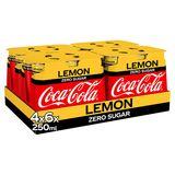 Coca-Cola Zero Lemon Slimcan 6 x 4 x 250ml