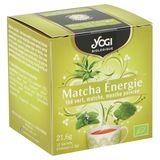 Yogi Biologique Matcha Énergie Thé Vert, Matcha, Menthe Poivrée Sachets d'Infusion 12 x 1.8 g