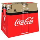 Coca-Cola Zero Sugar Zero Caffeine 6 x 250 ml