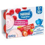Nestlé Yogolino Onctueux Framboise Fraise 6+ Mois 6 x 60 g