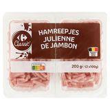 Carrefour Jambon Cuit Julienne 2 x 100 g