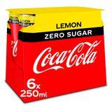 Coca-Cola Zero Sugar Lemon 6 x 250 ml