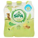 Spa Duo Citron Vert - Gingembre Non Pétillant PET 6 x 1 L