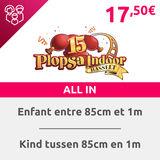 Plospa Indoor Hasselt: 1 Billet + 1 repas enfant