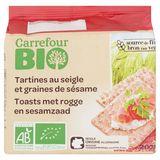 Carrefour Bio Toasts met Rogge en Sesamzaad 200 g