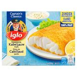 Iglo 4 Gepaneerde Kabeljauw Filets 400 g