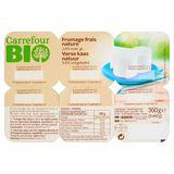 Carrefour Bio Fromage Frais Nature 6 x 60 g