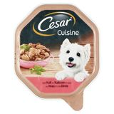 Aliment Chien Cesar Cuisine Barquette au Veau et à la Dinde 150 g