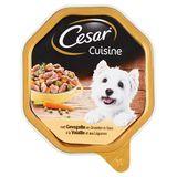 Aliment Chien Cesar Cuisine Barquette à la Volaille et aux Légumes 150 g