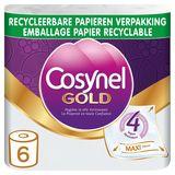 Cosynel Gold '4' 4 Lagen Toiletpapier Papieren Verpakking 6 Rollen