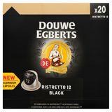 DOUWE EGBERTS Café Capsules Black Ristretto Intensité 12 20 pièces