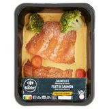 Carrefour Traiteur Gourmet Filet de Saumon Sauce Choron & Brocoli 670 g