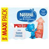 Nestlé Groeimelk 3+ vanaf 3 Jaar 8 x 1 L