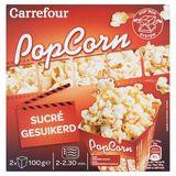 Carrefour Popcorn Sucré 2 x 100 g