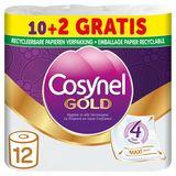 Cosynel Gold '4' 4 Lagen Toiletpapier Papieren 10+2 Rollen