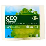 Carrefour Eco Planet Papier Toilette Compact 2 Épaisseurs 4 Rouleaux
