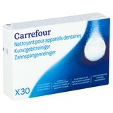 Carrefour Kunstgebitreiniger 30 Stuks