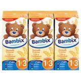 Bambix Lait de Croissance aux Céréales sans Vanille 1-3 An 3 x 200 ml