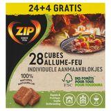 Zip Cubes Allume-Feu Naturels 28 Cubes