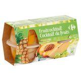 Carrefour Cocktail de Fruits au Sirop Léger 4 x 120 g