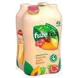 Fuze Tea Black Tea Peach Hibiscus Pet 4 x 1.25 L