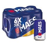 Maes Bière blonde Pïls 5.2% ALC Canette 6x33cl