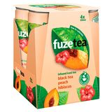 Fuze Tea Black Tea Peach Hibiscus 4 x 250 ml