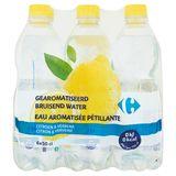 Carrefour Gearomatiseerd Bruisend Water Citroen & Verbena 6 x 50 cl