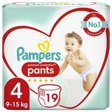 Pampers Premium Couches-culottes 4, 19Culottes, 9kg  - 15kg