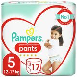 Pampers Premium Protection Couches-culottes 5, 17Culottes, 12kg -17kg