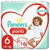 Pampers Premium Protection Pants Luierbroekjes M6, 16 Broekjes, 15kg+