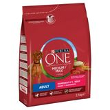 PURINA ONE Croquette Chien Adult Medium/Maxi Boeuf et Riz 2.5 kg