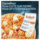 Carrefour Pizza Cuite sur Pierre Kebab 400 g