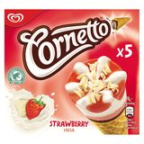 Cornetto Ola Multipack Glace Fraise 5 x 120 ml